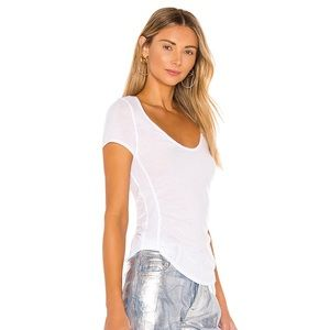 NWOT Free People Sonnet Scoop Neck White T-Shirt